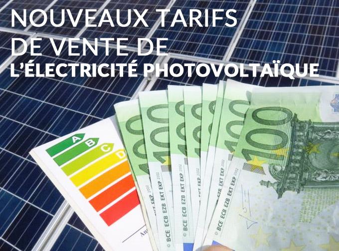 tarif de revente électricité photovoltaïque 4ème trimestre 2020